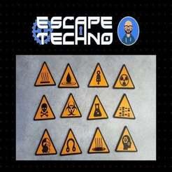 V10.jpg Download free STL file Signage signs • 3D printing model, EscapeTechno