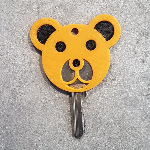 Download free 3D printer files Bear Keychain, EscapeTechno
