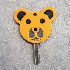 Clé Ours.jpg Download free STL file Bear Keychain • 3D printing model, EscapeTechno