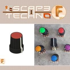 V26.jpg Download free STL file Potentiometer knob • Design to 3D print, EscapeTechno