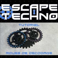 Download free 3D printer files Decoding gear - Escape Game, EscapeTechno