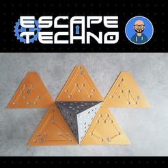V12.jpg Télécharger fichier STL gratuit Tétracode - Escape Game • Plan imprimable en 3D, EscapeTechno