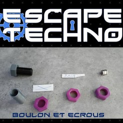 V02.jpg Télécharger fichier STL gratuit Boulon Ecrou - Escape Game • Design pour imprimante 3D, EscapeTechno