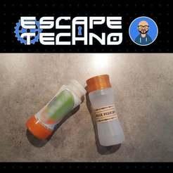 Download free 3D printer templates Sorcerer's Vial - Escape Game, EscapeTechno