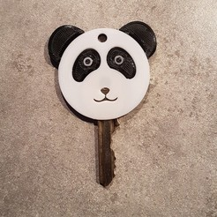 Download free 3D printing files Panda Keychain, EscapeTechno