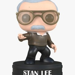 Download free 3D printer files funko pop stan lee, brayanrosas94