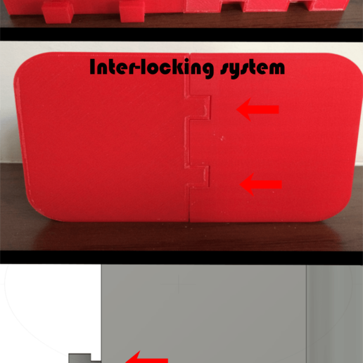 Locking_texted.png Download free STL file Heavy Duty Soap Box and Toothbrush holder • 3D printing model, Darkoneson