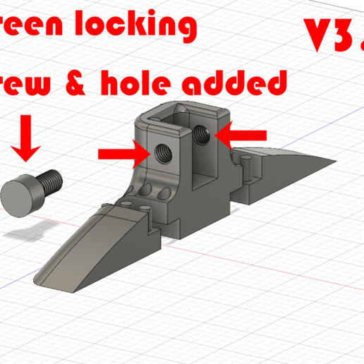 Done_V3.2_Lock_Screw.png Download free STL file Monitor Stand / Legs  • 3D print model, jono207