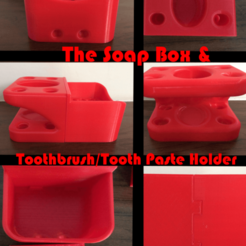 Download free 3D print files Heavy Duty Soap Box and Toothbrush holder, jono207