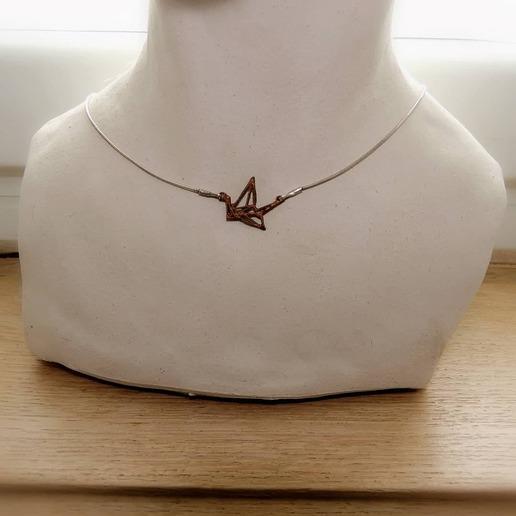"95962761_1654523254694704_7441816243809550336_n.jpg Download free STL file Geometric pendant ""Swan"" (Origami type) • 3D printer model, Samothex3D"