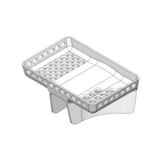 Sponge Holder Flaired  Ortho Top_.png Download STL file Kitchen Sink Sponge Holder (Flaired Base) • 3D printer object, SaberOfBorg