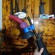 DSC01476.JPG Télécharger fichier STL gratuit Bad Dragon Large Rex pince à canon pour fusils de style M16A2 • Plan imprimable en 3D, Zastavan