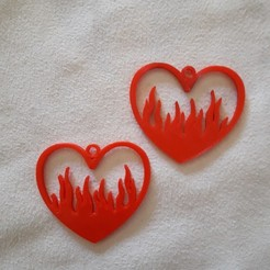 20201027_140927.jpg Download STL file Flaming Heart Hoops • 3D printing design, Todo3DJunin