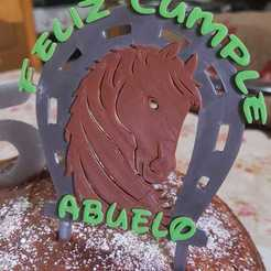 WhatsApp Image 2020-10-26 at 12.54.14.jpeg Download STL file Horseshoe Topper Cake • Template to 3D print, Todo3DJunin