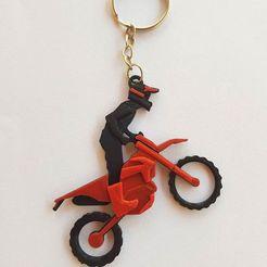 88253660_223278235734063_2132959211066228736_o.jpg Download STL file Motocross key ring • Template to 3D print, Todo3DJunin