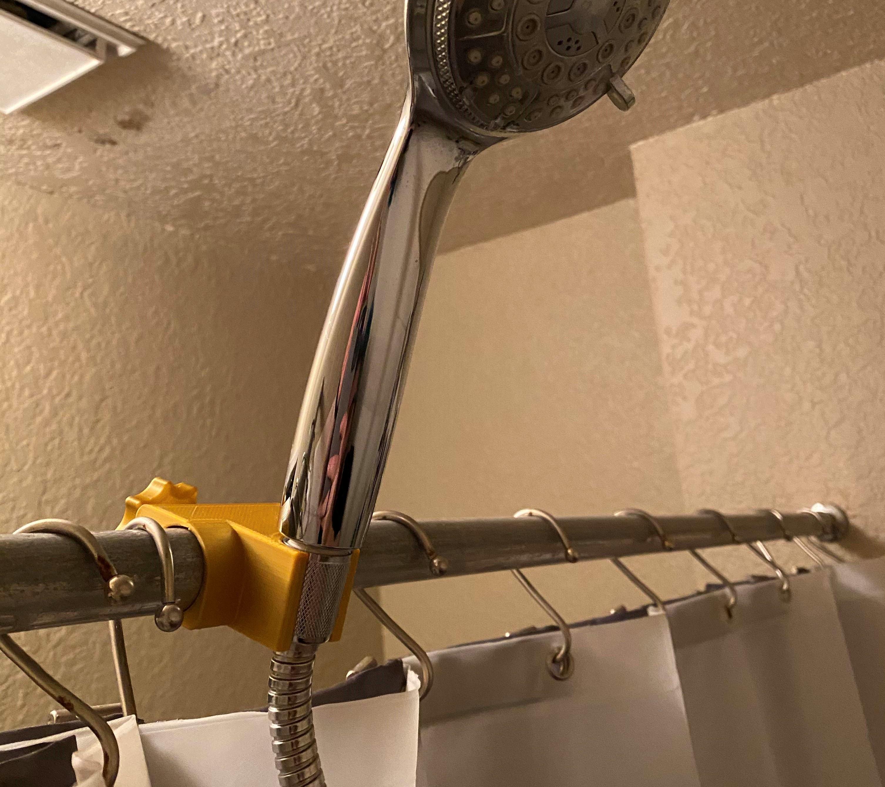 Shower Head Holder Fronts.jpg Download free STL file Shower Head Holder • 3D printing template, HomeLite