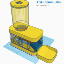 Download free STL files DIY Automatic Pet feeder IOT (Automatic Pet Feeder), arduinominilabs