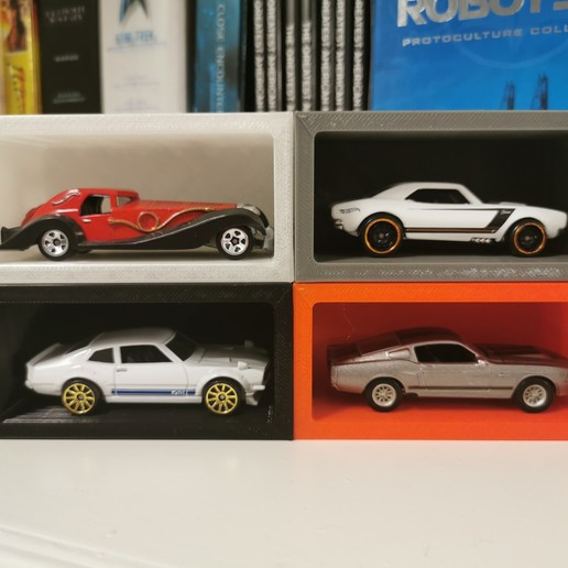 Imprimir en 3D gratis Pantalla modular de pared de Hot Wheels, 3diybz