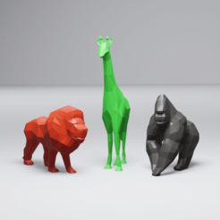 Download STL files Low Poly African Animal Pack, 3DyhrDesign