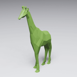 Download 3D printing files Low Poly Giraffe, 3DyhrDesign