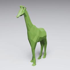 LowPolyGiraffe-render.png Télécharger fichier STL Poly Girafe basse • Modèle pour impression 3D, 3DyhrDesign