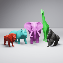 AfricanAnimalPack2-render.png Download STL file African Animal Collection #2 • 3D printable model, 3DyhrDesign