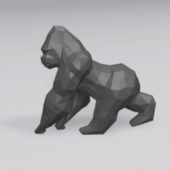 Download 3D print files Low Poly Gorilla, 3DyhrDesign