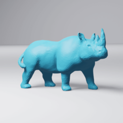 Download 3D model Low Poly Rhino, 3DyhrDesign