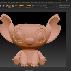 Download 3D printing files Stitch ZBrush v4 pencil cup, Impression_3D_loisir