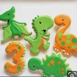 Descargar modelo 3D dinosaurios,dinosaurs ,galletas, cookie,galletas, Cutkies