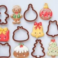 Download STL Christmas cookies, cookies, cookie, cookies, cookies, Christmas cookies, Cutkies