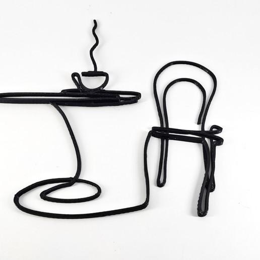 Download free 3D printer designs Decorative coffee wall art, EstebanBravo