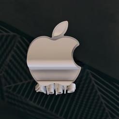 Holder_Apple 2.jpg Télécharger fichier STL Assistance par téléphone portable • Objet pour impression 3D, EstebanBravo