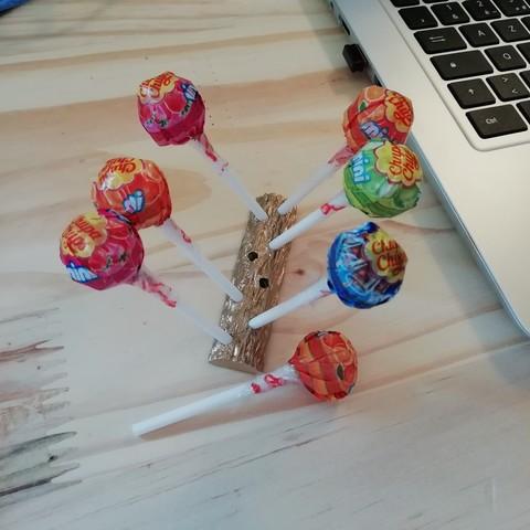 Télécharger fichier impression 3D gratuit tronc a sucettes, thomaslamotte22