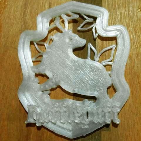 Download free 3D printing files Hufflepuff Crest, Urukog