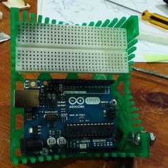 20150320_232647_display_large.jpg Download free STL file Arduino-Uno / Breadboard Support • Object to 3D print, Urukog