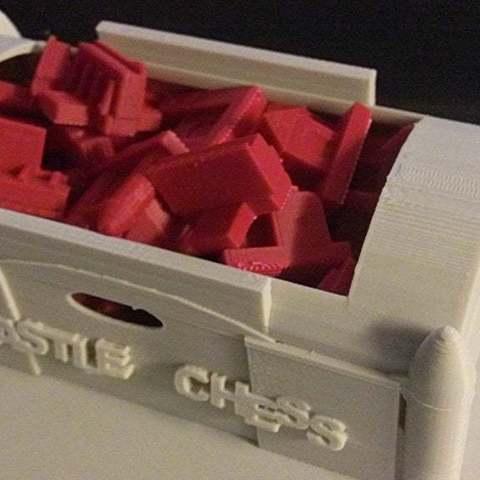 Télécharger fichier impression 3D gratuit Coffret d'échecs Castle Chess Set Container, Urukog