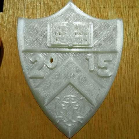 Download free 3D printing files Princeton Shield with Tiger 2015, Urukog