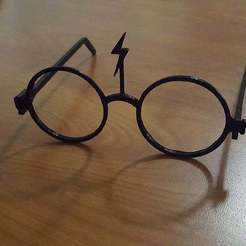 c850e4b8d493ba050a607eb8f8df5174_display_large.jpg Download free STL file Harry Potter Glasses • 3D printing model, Urukog