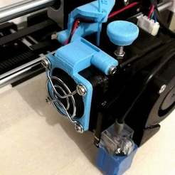 Descargar archivos STL gratis Filament guide with Hinge for a Fan - Anet A8, mat_osm