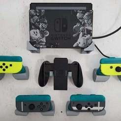 20190120_112939.jpg Télécharger fichier STL gratuit Nintendo Switch Joycon Grip Wallmount • Plan pour impression 3D, joschkriebler