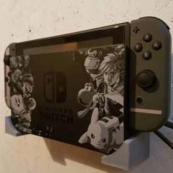 20181227_164711.jpg Télécharger fichier STL gratuit Support mural simple pour le Nintendo Switch • Modèle pour impression 3D, joschkriebler