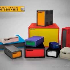 Download free STL files The Ultimate Parametric Box, Obenottr3D