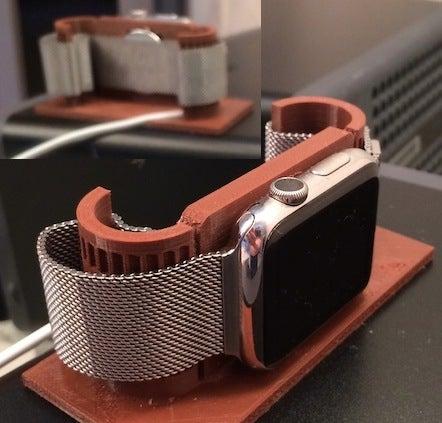 Watch2_display_large.jpg Download free STL file Apple Watch alarm stand • 3D print model, Obenottr3D