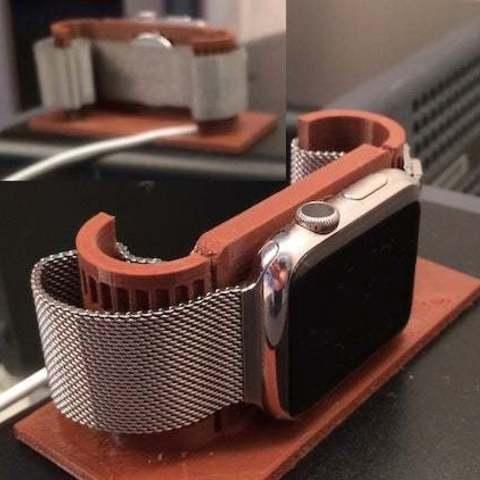 Download free 3D printer files Apple Watch alarm stand, Obenottr3D