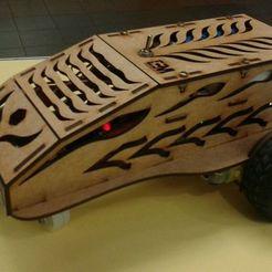 Impresiones 3D gratis Car MDF de 3mm  3 Rueda Para Arduino, Obenottr3D