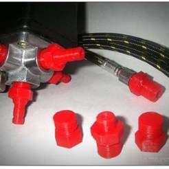 Descargar Modelos 3D para imprimir gratis Adaptadores de aerógrafo, Obenottr3D