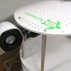 Télécharger fichier impression 3D gratuit Numérisation dans les supports d'enceintes SCAD / TurtleBot, Obenottr3D