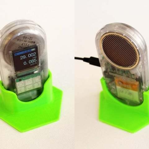 Download free 3D printing designs Safecast Onyx Geiger Counter Stand, Obenottr3D