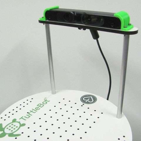 Download free 3D printer designs Asus Xtion mount for TurtleBot, Obenottr3D